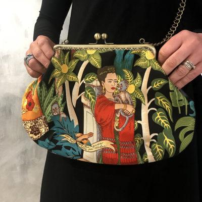 mini-bag-let-bags-frida-nera-stoffa-pelle-artigianato-femminile-accessori-moda-crazy-art-torino