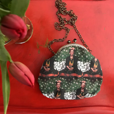 pochette-LeT-Bags-Frida-verde-stoffa-pelle-artigianato-femminile-handmade-crazy-art-torino