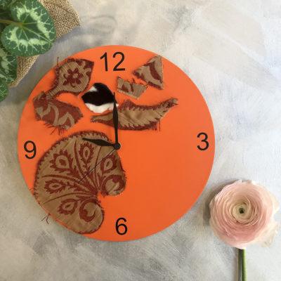 orologio-arancio-oggettistica-articoli-regalo-handmade-artigianato-crazy-art-torino