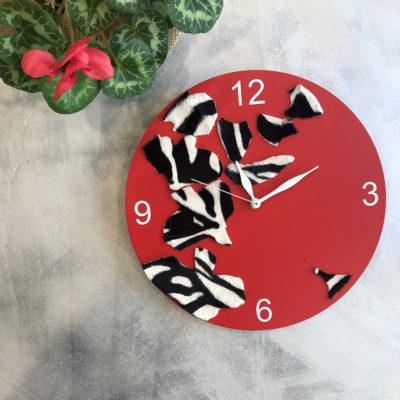 orologio-rosso-oggettistica-articoli-regalo-handmade-artigianato-crazy-art-torino