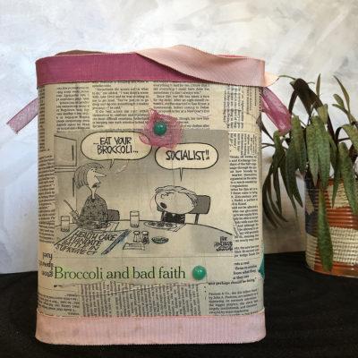 porta-riviste-nastri-rosa-oggettistica-articoli-regalo-handmade-artigianato-crazy-art-torino