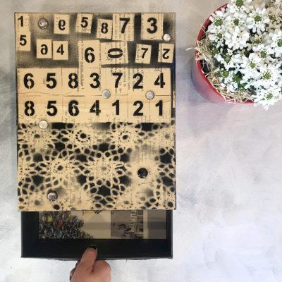 scatola-porta-oggetti-nera-numeri-intera-oggettistica-articoli-regalo-handmade-artigianato-crazy-art-torino